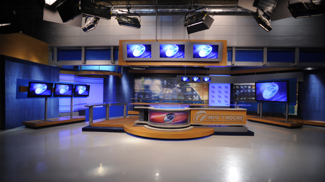 Azteca - Mexico - News Sets Set Design - 1