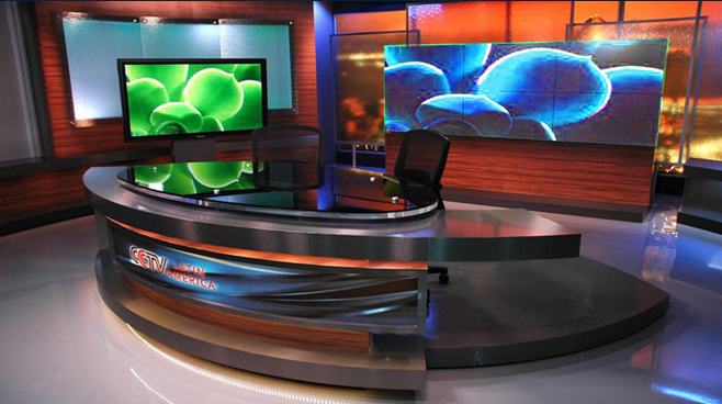 CCTV Latin America - Brazil - News Sets Set Design - 1