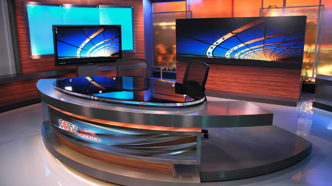 CCTV Latin America - Brazil - News Sets Set Design - 2