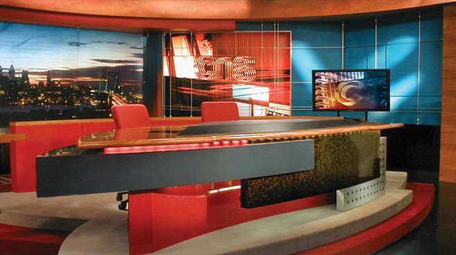Comcast 8 -  - News Sets Set Design - 1