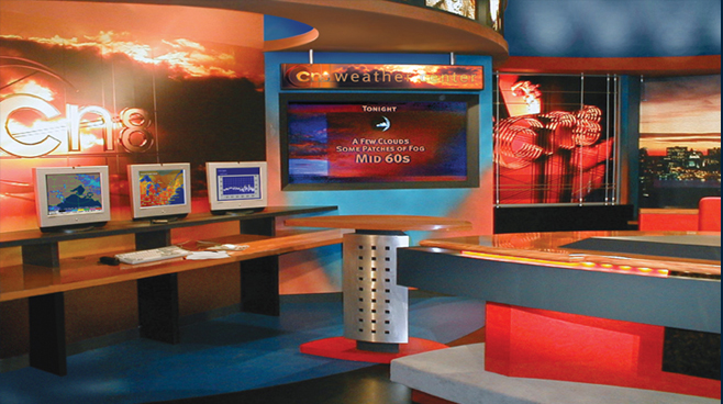 Comcast 8 -  - News Sets Set Design - 2