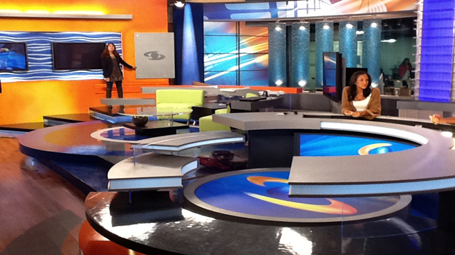 Caracol - Columbia - News Sets Set Design - 1