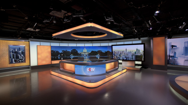 CCTV Washington DC - Washington DC - News Sets Set Design - 3