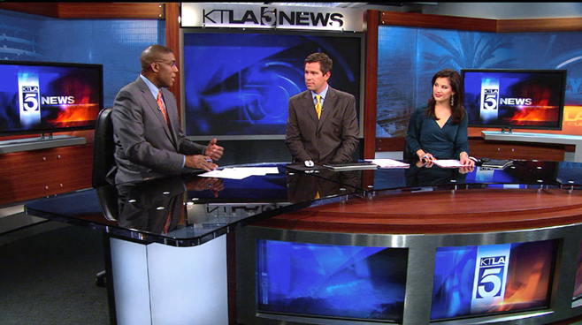 KTLA - Los  Angeles - News Sets Set Design - 3
