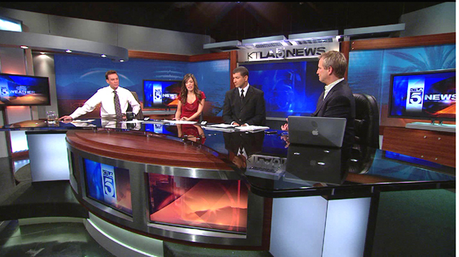KTLA - Los  Angeles - News Sets Set Design - 1
