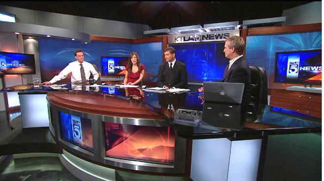 KTLA - Los  Angeles - News Sets Set Design - 1