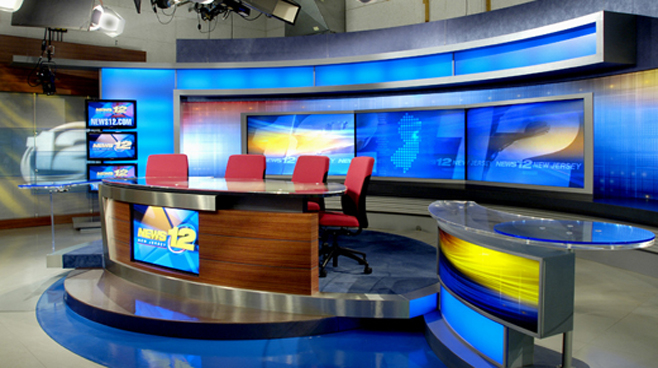 News 12 New Jersey - New Jersey - News Sets Set Design - 1