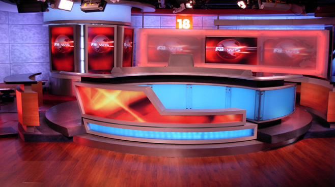 Network 18 -  - News Sets Set Design - 1