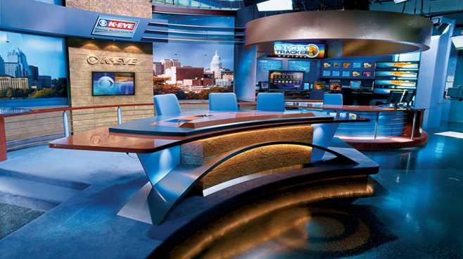 KEYE - Austin - News Sets Set Design - 1