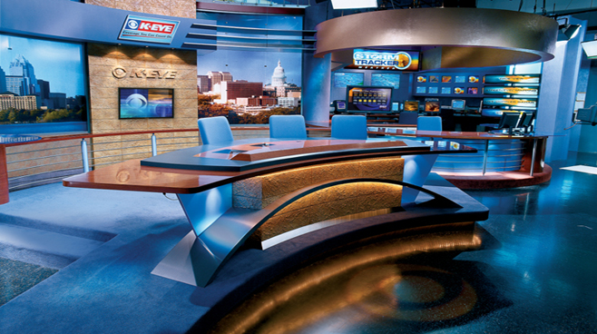 KEYE - Austin - News Sets Set Design - 2