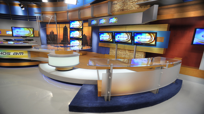 TV Azteca - Mexico - News Sets Set Design - 1