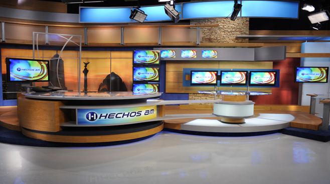 TV Azteca - Mexico - News Sets Set Design - 2