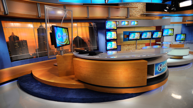 TV Azteca - Mexico - News Sets Set Design - 3