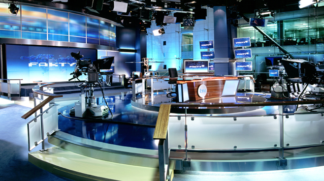 TVN - Warsaw - Newsrooms Set Design - 2