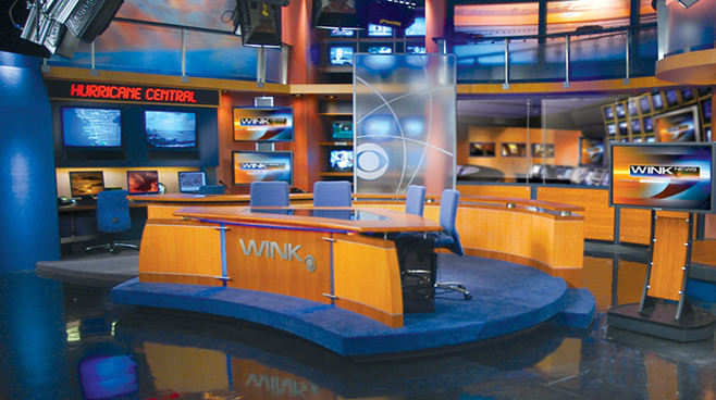 WINK - Fort Myers - News Sets Set Design - 1