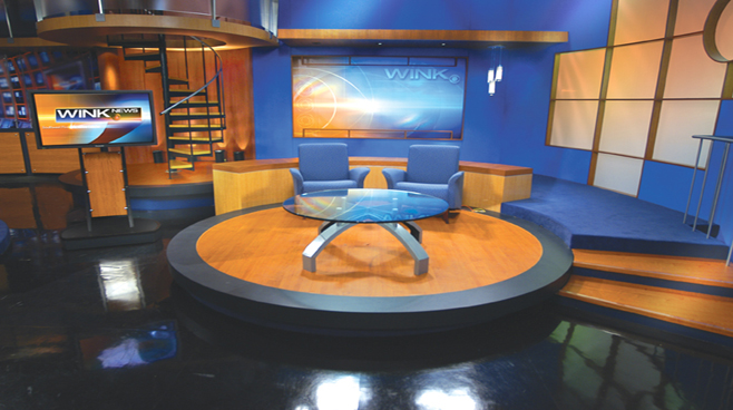 WINK - Fort Myers - News Sets Set Design - 3