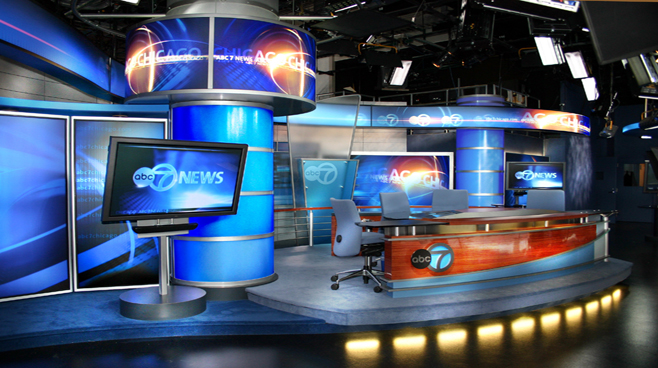 WLS - Chicago - News Sets Set Design - 1