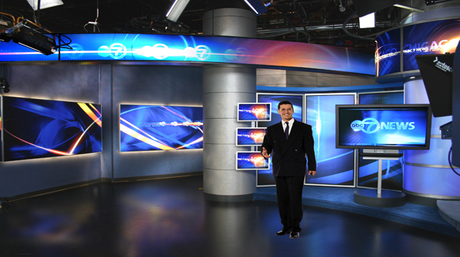 WLS - Chicago - News Sets Set Design - 2