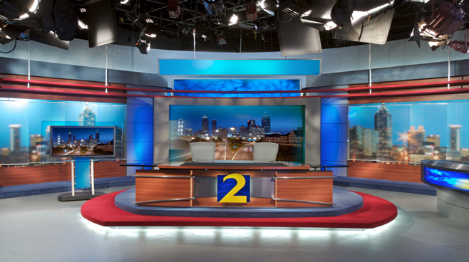 WSB - Atlanta - News Sets Set Design - 1