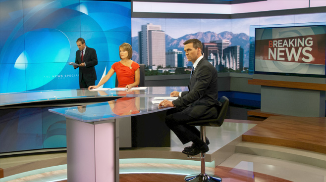 KSL - Salt Lake City, UT - News Sets Set Design - 1