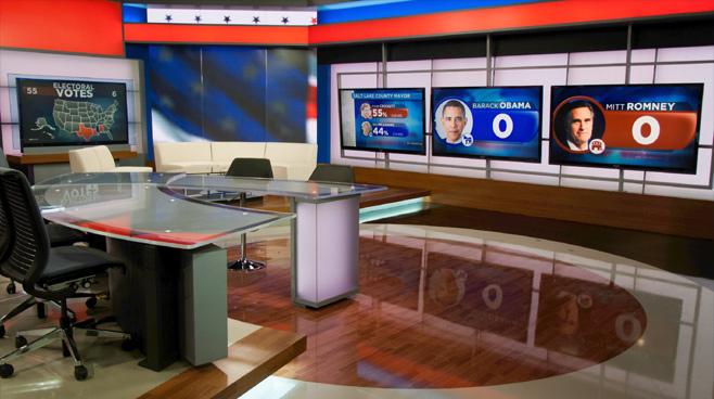 KSL - Salt Lake City, UT - News Sets Set Design - 3