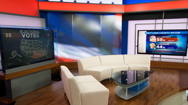 KSL - Salt Lake City, UT - News Sets Set Design - 6
