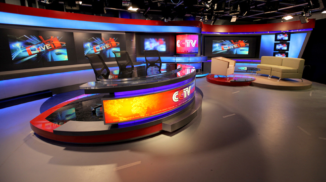CCTV Russia - Moscow - News Sets Set Design - 5