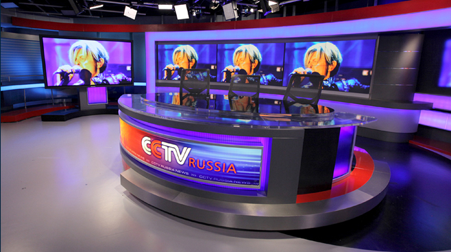 CCTV Russia - Moscow - News Sets Set Design - 4