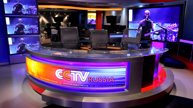 CCTV Russia - Moscow - News Sets Set Design - 6