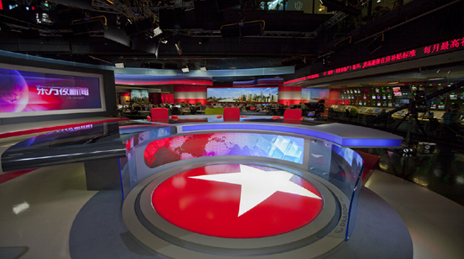 SMG Dragon TV - Shanghai, China - Newsrooms Set Design - 1