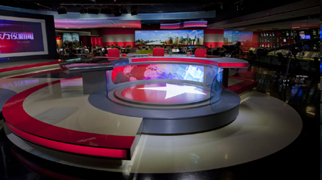SMG Dragon TV - Shanghai, China - Newsrooms Set Design - 3