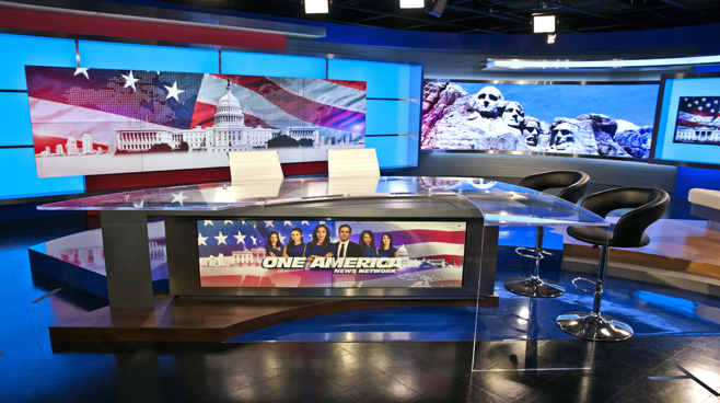 One America - National - News Sets Set Design - 2