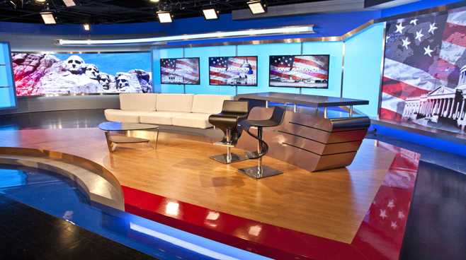 One America - National - Talk Shows Set Design - 2