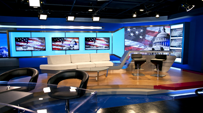 One America - National - Talk Shows Set Design - 1