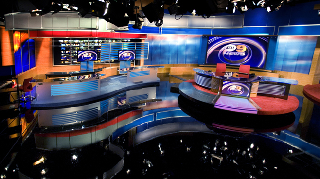 KCAL - LOS ANGELES, CA - News Sets Set Design - 3