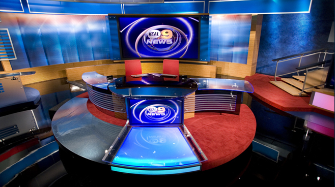 KCAL - LOS ANGELES, CA - News Sets Set Design - 4