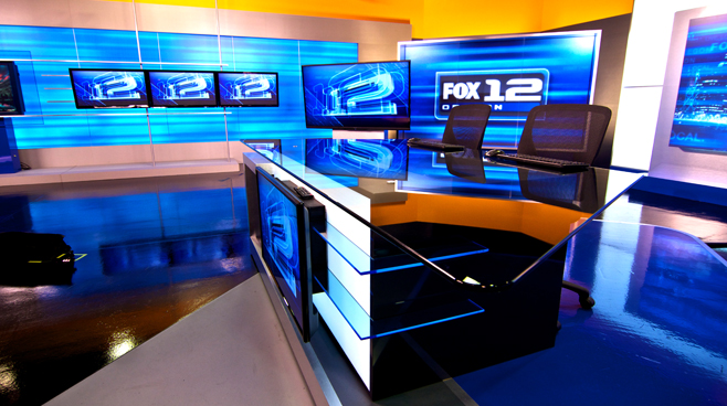 KPTV - PORTLAND, OR - News Sets Set Design - 3