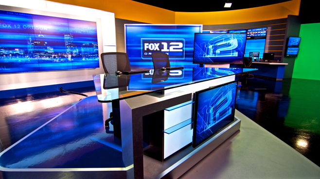 KPTV - PORTLAND, OR - News Sets Set Design - 2