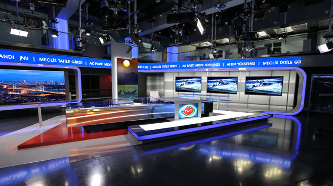 TRT - ANKARA - News Sets Set Design - 2
