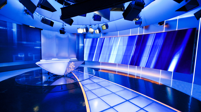 CCTV INT'L - STUDIO C7 Set Design - News Sets - Broadcast Design
