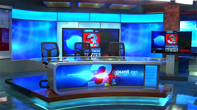 WRCB - CHATTANOOGA, TENNESSEE - News Sets Set Design - 2