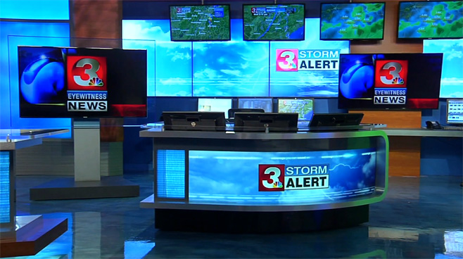 WRCB - CHATTANOOGA, TENNESSEE - News Sets Set Design - 3