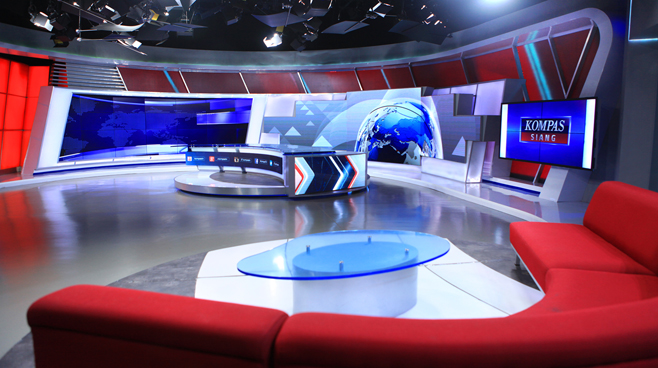 Kompas TV -  - News Sets Set Design - 1