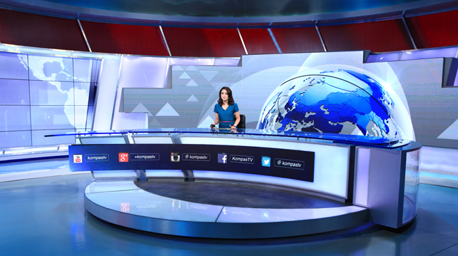 Kompas TV -  - News Sets Set Design - 3