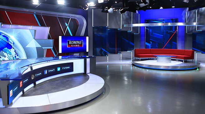 Kompas TV -  - News Sets Set Design - 7
