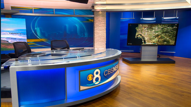 KFMB - San Diego, CA - News Sets Set Design - 2