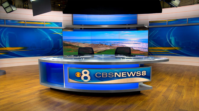 KFMB - San Diego, CA - News Sets Set Design - 1