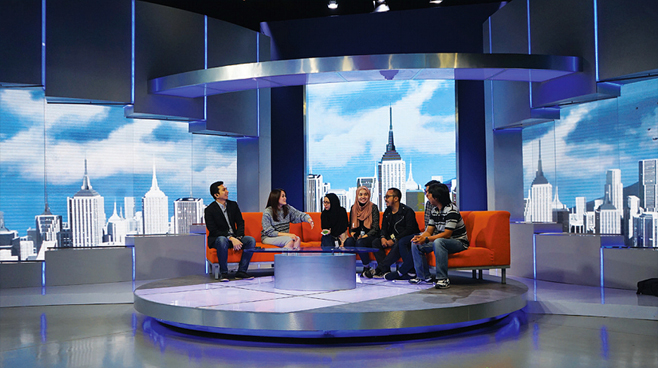 Kompas tv set design talk shows broadcast design Home architecture tv show