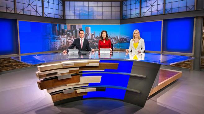 KCPQ - Seattle, WA - News Sets Set Design - 2