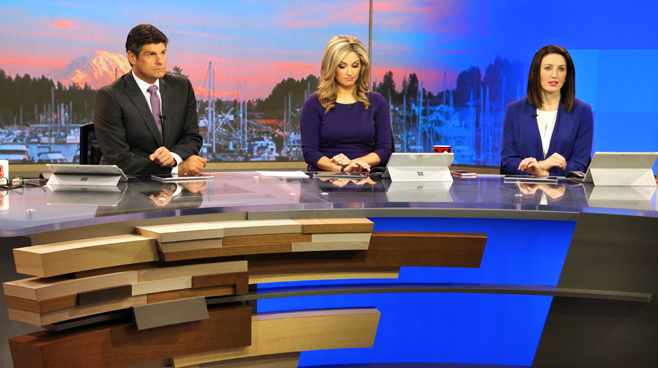 KCPQ - Seattle, WA - News Sets Set Design - 7
